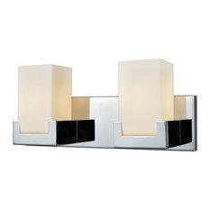 Art Deco 2 Light Vanity Light in Polished Chrome Finish