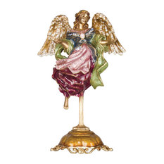 Ascending Angel Figurine and Stand Jewel Finish