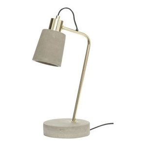 Hübsch Concrete and Brass Table Lamp
