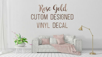 Design Your Own Rose Gold Sticker