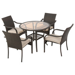 Perfect Contemporary Outdoor Dining Sets by GDFStudio