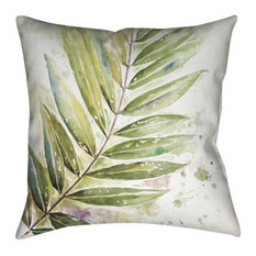 Laural Home Watercolor I Decorative Pillow