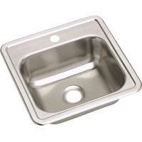 "Elkay Dayton Stainless Steel 15""x15""x5-3/16"" Top Mount Bar Sink D115161"