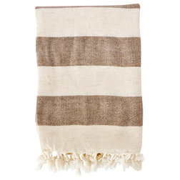 Modern Throws Organic Linen Pestemal, Chocolate