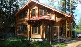 Луговая, дом из оцилиндорванного бревна