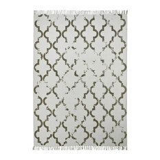 Stockholm Moroccan Tile Floor Rug, Taupe, 120x170 Cm