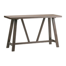 """Dylan Solid Wood 50""""   Console Sofa Table, Driftwood"""