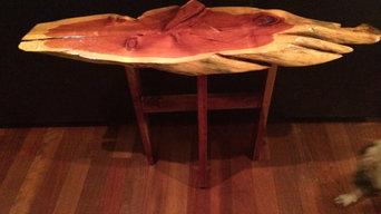 Unique Live Edge Red Cedar Side Table