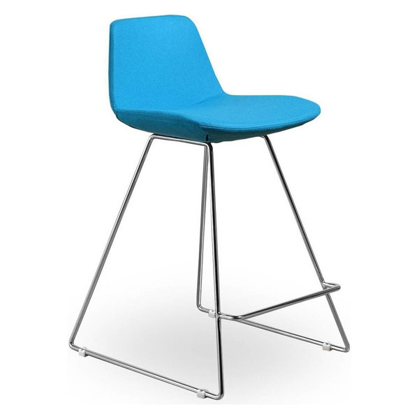 Contemporary Counter Stool, Turquoise, Set of 2