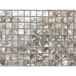 CHOIS - Chois B01 Mother Of Pearl Shell Backsplash Square Mosaic Arts Freshwater Tiles - Note: If you have any concerns that these tiles will not be suitable for your particular application,please buy a sample first to make sure.