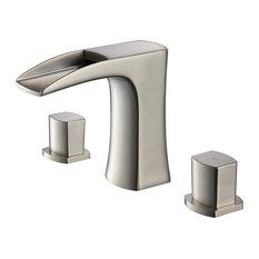 Fortore Single Hole Vessel Mount Bathroom Vanity Faucet, Brushed Nickel