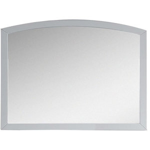 "35.43""x25.6"" Modern Birch Wood-Veneer Wood Mirror, White"