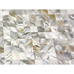 CHOIS - Chois Freshwater Mother Of Pearl Shell Backsplash Mosaic Tiles M01 - Note: If you have any concerns that these tiles will not be suitable for your particular application,please buy a sample first to make sure.