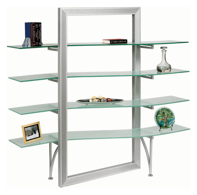 Dainolite Dbs 400 Gl Sv Elegant Free Standing Shelf Frosted Silver