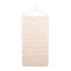 80-Pocket Hanging Canvas Jewelry Organizer