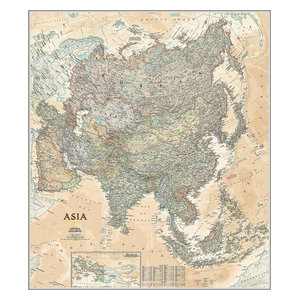 Classic Asia Map Wall Mural, Self-Adhesive Wallpaper - Contemporary ...