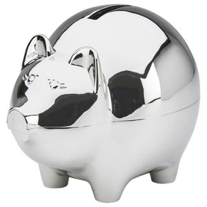 Nambe Kibo Piggy Bank