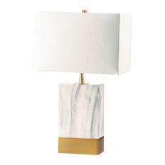Acme Furniture Libe, Table Lamp White & Satin Gold 40207