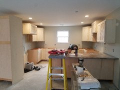 We Are In The Middle Of New Construction And After Already Changing My First Gray Color It Was Too Dark I Have Owl Living Room Kitchen