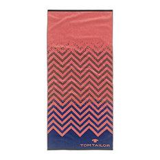 Tom Tailor Sports Towel, Orange and Blue