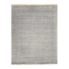 EORC LL4GY Handmade Wool Gray Lori Baft Rug, 9'x12'