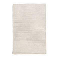 Colonial Mills, Inc - Braided Simply Home Solid, 10', Area Rug, White, Square 10' - Outdoor Rugs