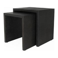 pfeifer studio galante nested crocodile tables side tables and end tables - Leather Side Tables