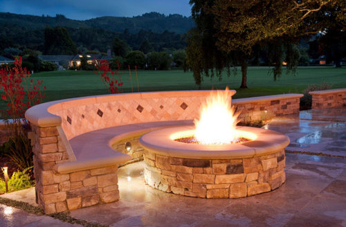 Exterior Fire Pit And Bench