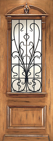 Art nouveau doors an 2009 1 mahogany hand carved french art nouveau forged iron glass single door sciox Images