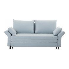 Exeter Upholstered Sofa Bed, Light Blue
