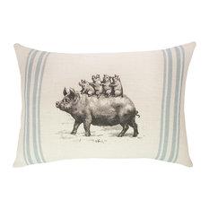 Pigs Burlap Pillow