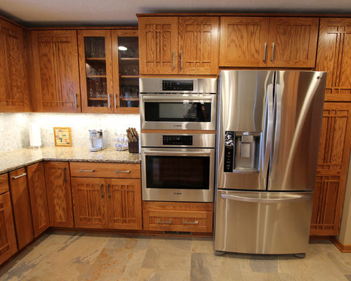 Pecan Mission Style Cabinets With Quartz Countertop
