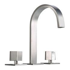 Luxier Modern Bathroom Sink Widespread Faucet, Brushed Nickel