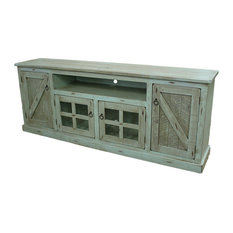 1st Avenue - Agatha Rustic TV Stand, Rustic Driftwood - Entertainment Centers and Tv Stands