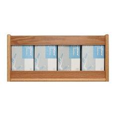 Wooden Mallet 4 Pocket Glove and Tissue Box Holder in Light Oak