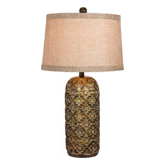 W-6230 Table Lamp, Antique Gold