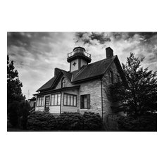 """Cedar Point Lighthouse in Black and White Unframed Wall Art Prints, 11""""x14"""""""