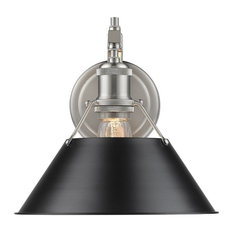 Orwell 1-Light Wall Sconce, Pewter Black Shade