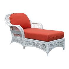 Regatta Chaise Lounge in White, Midnight Fabric