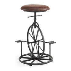 Harlem Adjustable Industrial Metal Bicycle Barstool, Wrangler