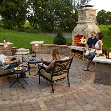 Chanhassen MN Backyard Fireplace and Patio