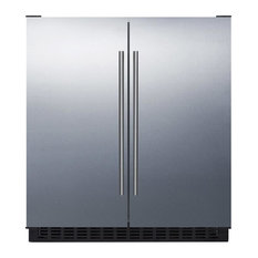 Summit Appliance - Built-In Side by Side Frost-Free Refrigerator, Freezer FFRF3075WSS - Refrigerators