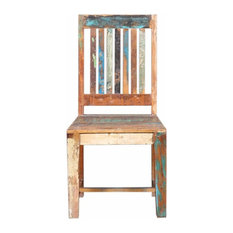 Glenbrook Handcrafted Slatted Back Reclaimed Wood Dining Chair