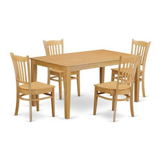 5-Piece Dining Room Set For 4 Dining Table And 4 Dining Chairs