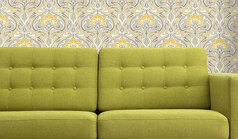 Crown Archives Flora Nouveau Wallpaper Yellow M1195