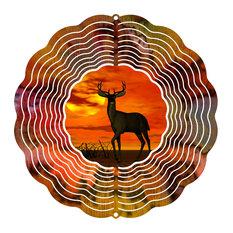 """Sunset Deer 10"""" Wind Spinner"""
