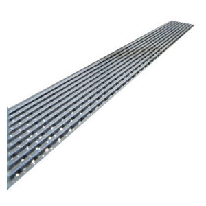 "Quartz by Aco Linear Drain Linear Wedge Design, 28"", Flange Body"