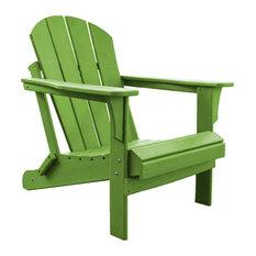 Panama Jack Poly Resin Lime Adirondack Chair