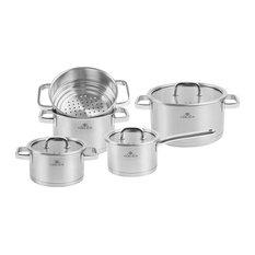 PRESTIGE Stainless Steel Pot Set With Lids 9 pcs