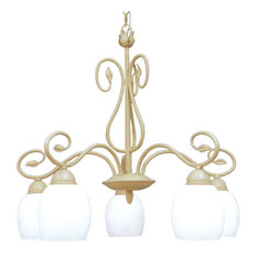 Champlaign 5-Light Chandelier, Washed Gold